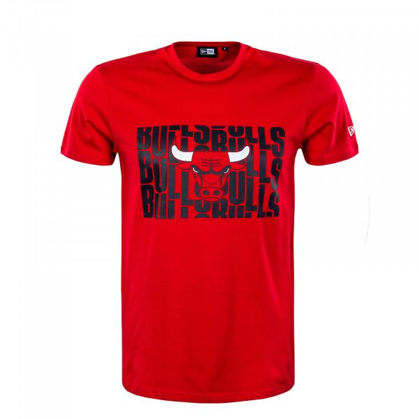 Herren T-Shirt - NBA Wordmark Repeat Chicago Bulls - Red