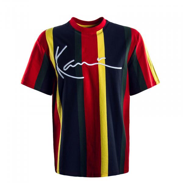 Herren T-Shirt Signature Stripe Red Blue