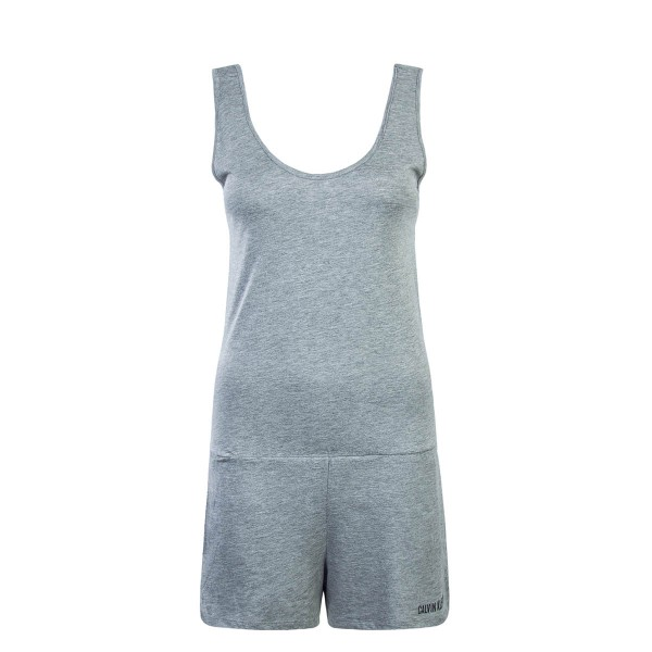 CK Wmn Jumpsuit Scoop Back Romper Grey