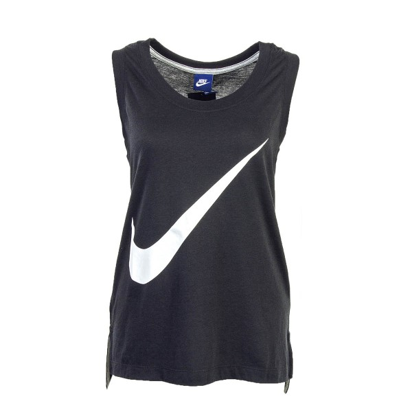 Nike Wmn Top NSW Prep Black White