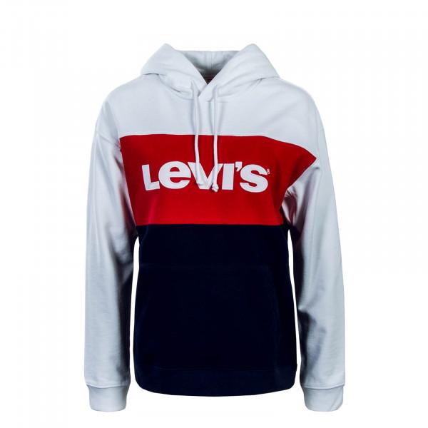 Levis Wmn Hoody CB Sportswear WhtRedNavy