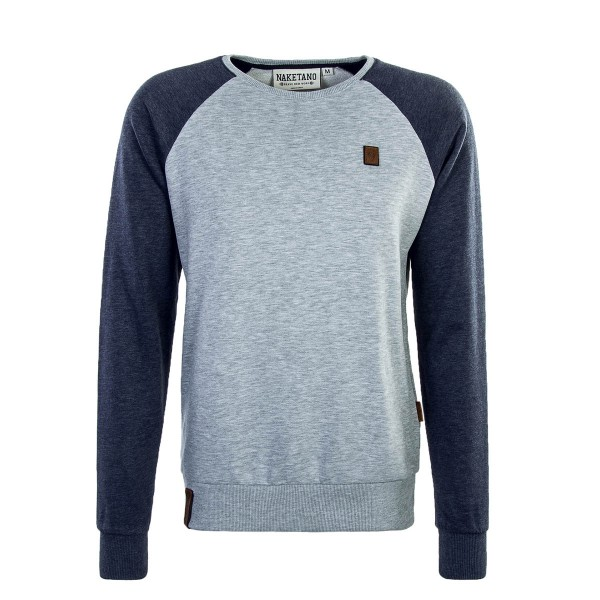 Naketano Sweat The Jordan Rules Grey Blu