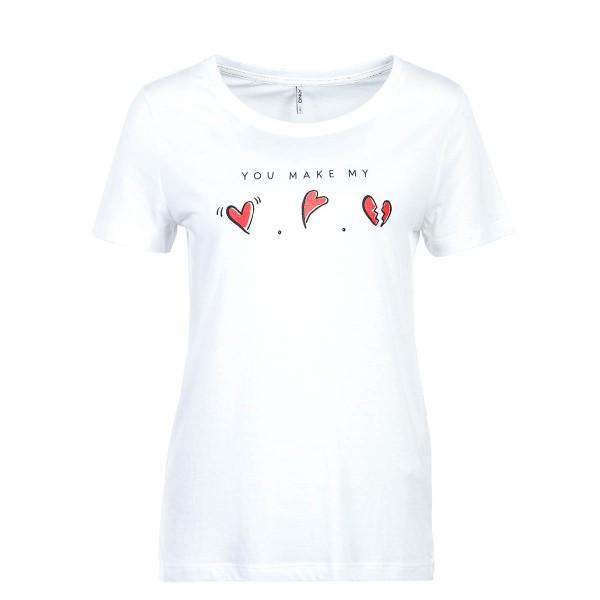 Only TS Melon Love Print White