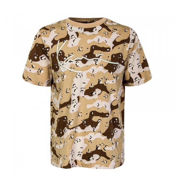 Herren T-Shirt - Signature Camouflage -Sand / Rose / Brown