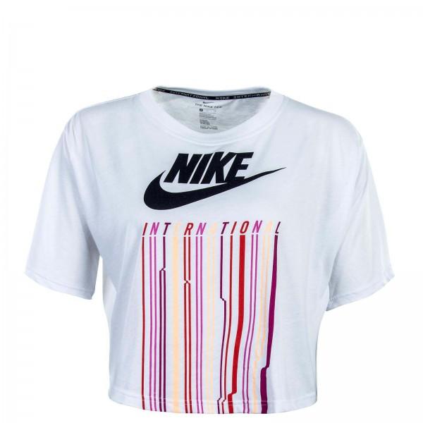 Nike Wmn TS Intl TBL Crop White Black
