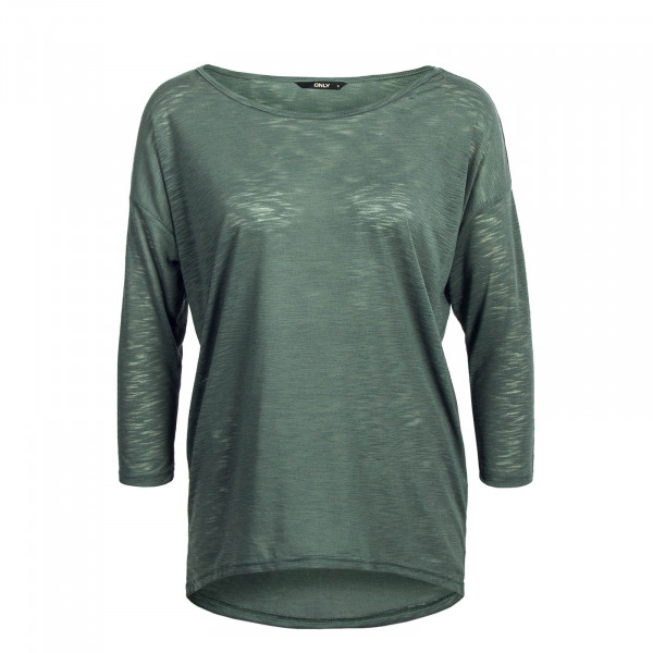 Damen Longssleeve 3/4 Casa Solid Slub Green