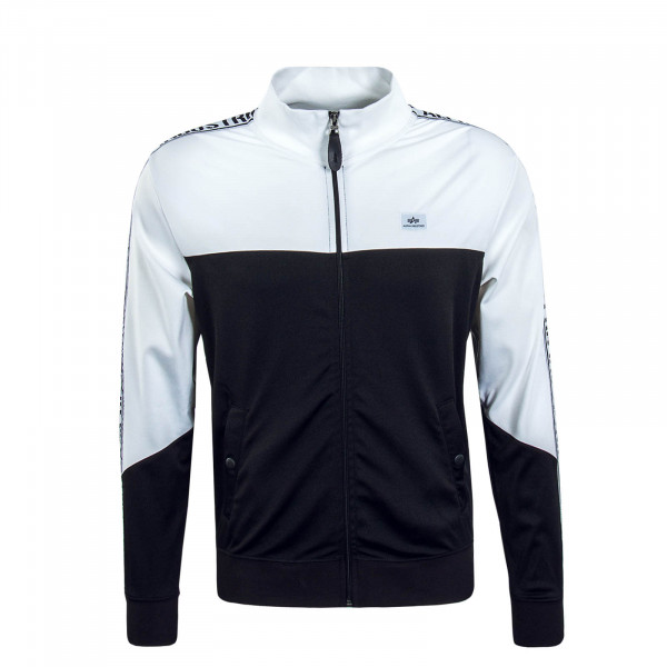 Herren Trainingsjacke Track Tape Black White