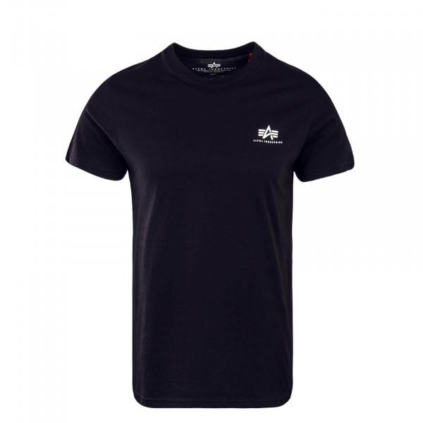 Herren T-Shirt Small Basic Black