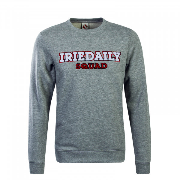 Iriedaily Sweat ID Squad Grey White Red