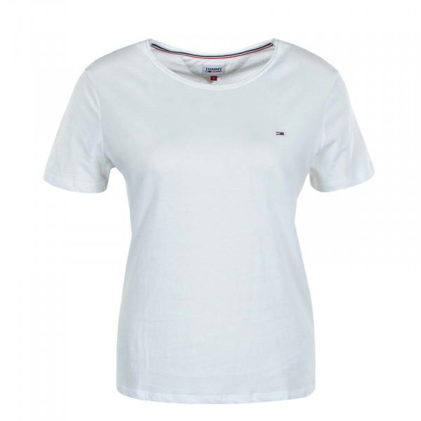 Damen T-Shirt Slim Jersey 9194 White