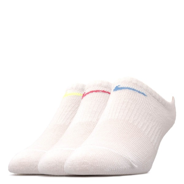 Nike Socks 3 Pack Dri Fit White Neon