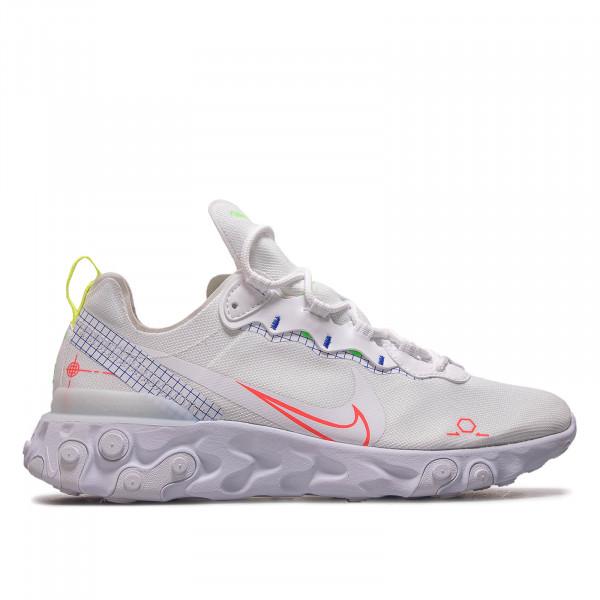 Herren Sneaker React Element 55 White Crimson Blue