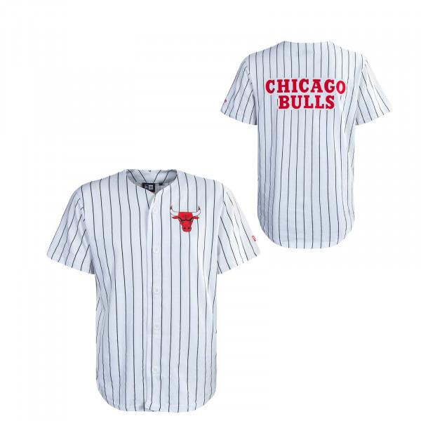 Herren T-Shirt - Pinstripe Baseball Jersey Chicago Bulls - White