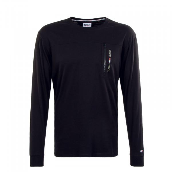 Herren Longsleeve - TJM Tech Pocket - Black