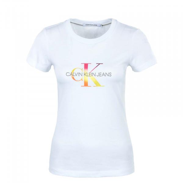 Damen T-Shirt - Seasonal Filled Mono Gradient - Bright / White