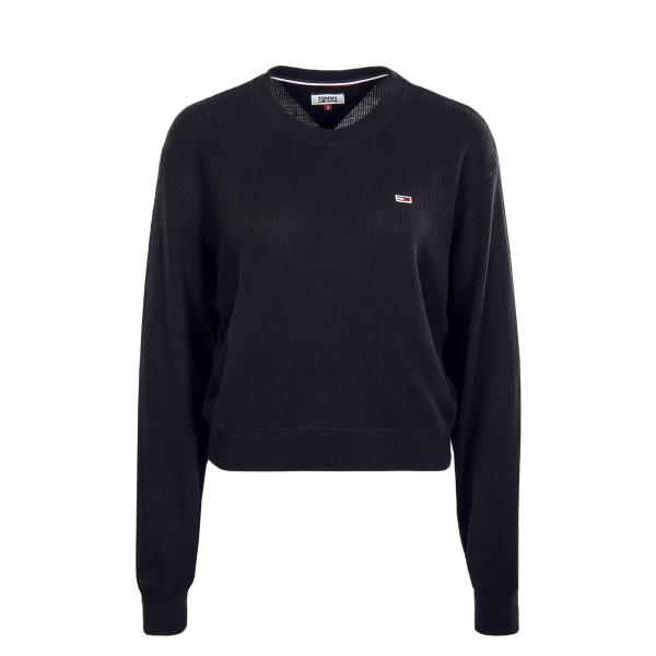 Damen Sweatshirt Waffle 7367 Black