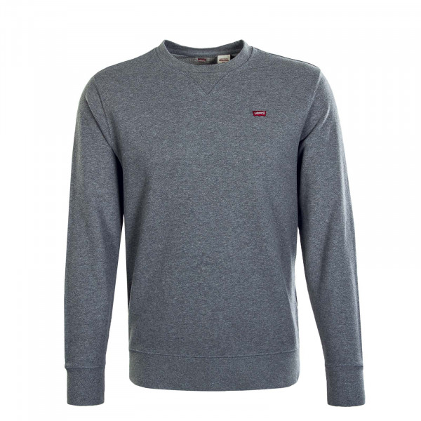 Herren Sweatshirt Crew New Orginal Chisel Grey