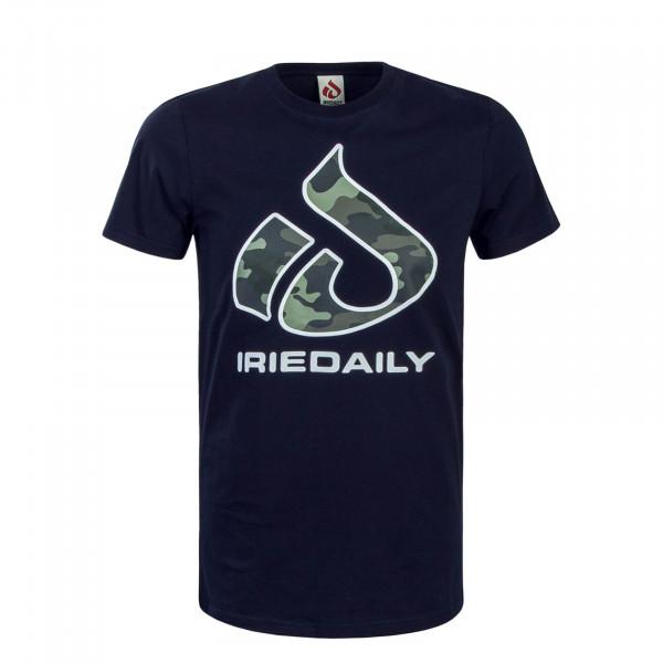 Herren T-Shirt Glyph Relaxed Navy Green Camouflage