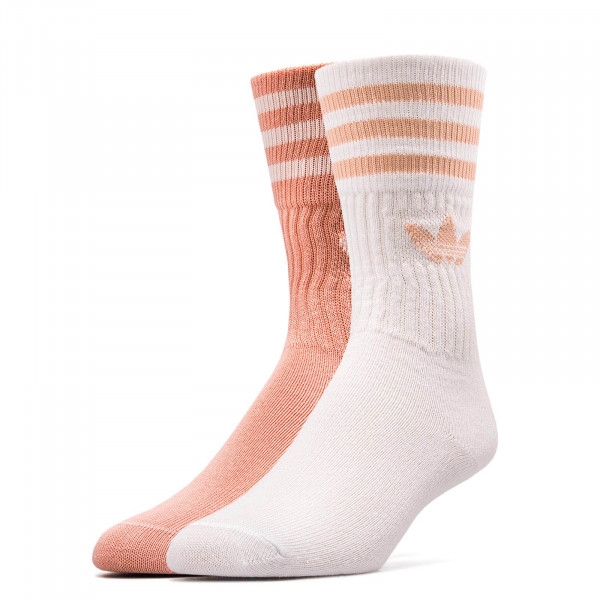 Socks Solid 2 Crew Orange White