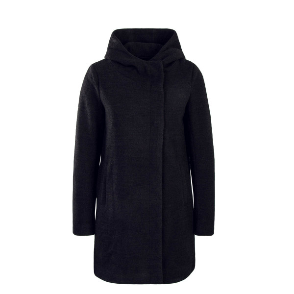 Damen Mantel - Long Wool Fairy Sharon  - Black