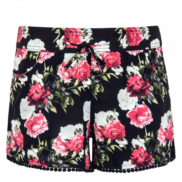 Damen Short 61531 Black Flower