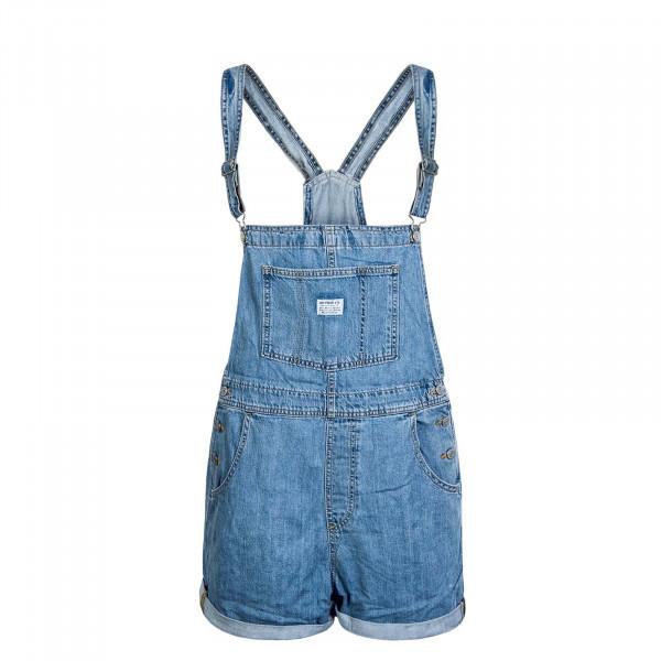 Damen Latzshort Vintage Shortall Fused Blue