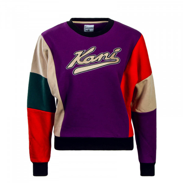 Kani Wmn Sweat College Crew Purple Red