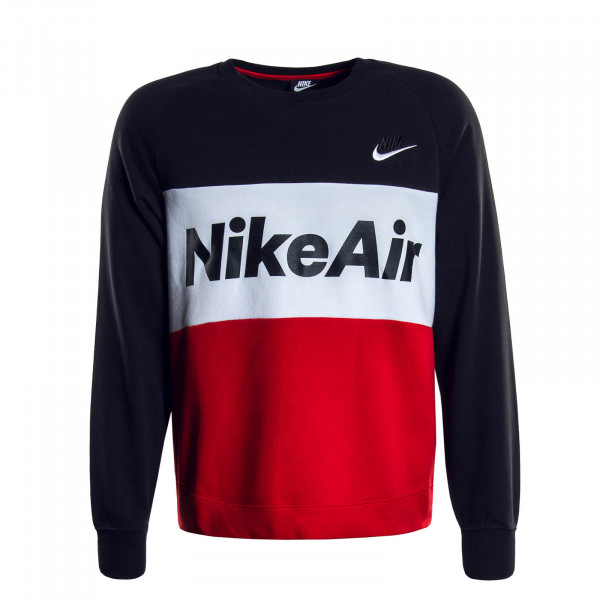 Herren Sweatshirt Air Black White Red