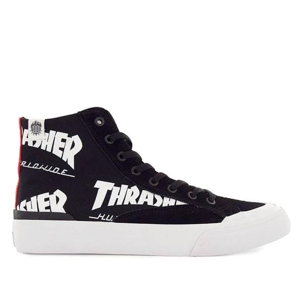 Huf X Thrasher Classic Hi Black White