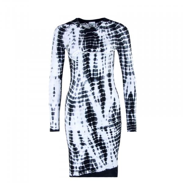 Damen Kleid - Tiedye Rip - White