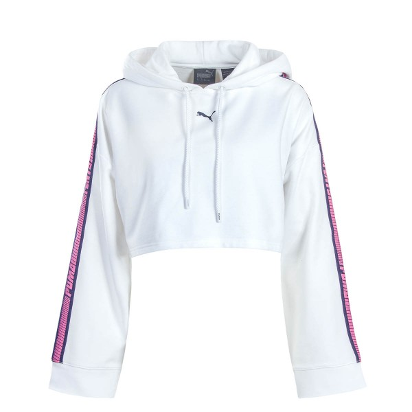 Fenty Wmn Hoody Cropped White Pink