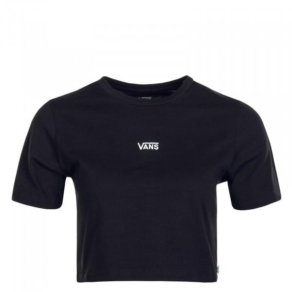 Damen T-Shirt Flying V Crop CRE Black