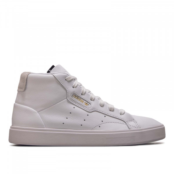 Damen Sneaker Sleek Mid W White Gold