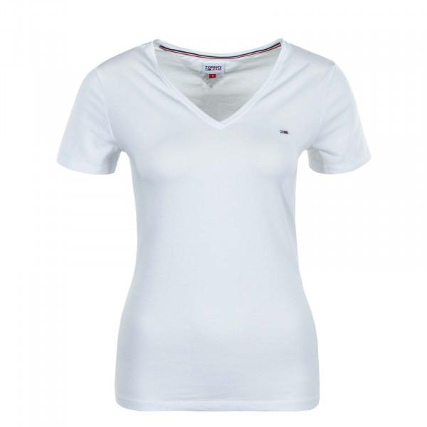 Damen T-Shirt Skinny Stretch 9197 White