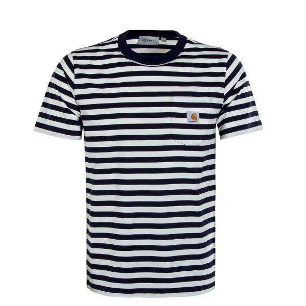 Herren T-Shirt - Scotty Pocket T-Shirt Stripe - Dark Navy