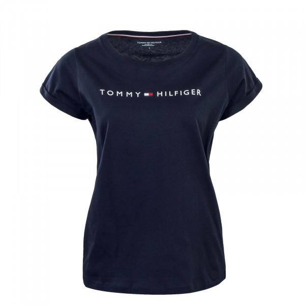 Damen T-Shirt RN Logo Navy White