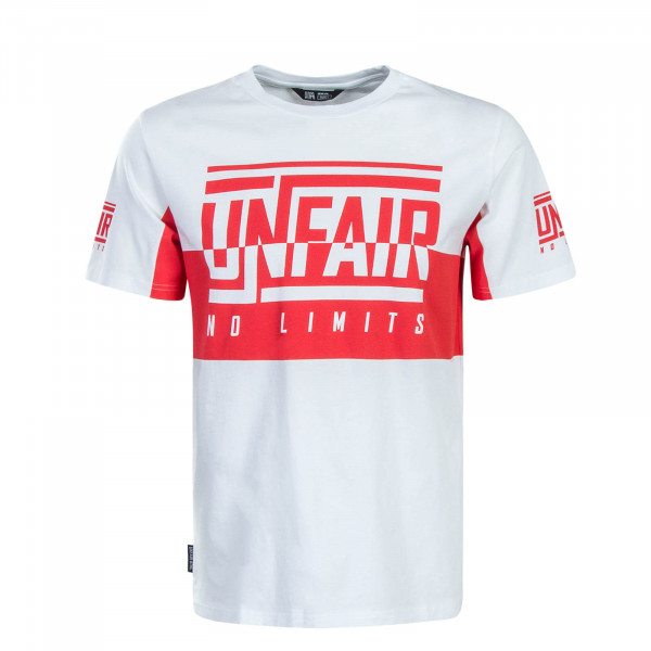 Herren T-Shirt No Limits White Red