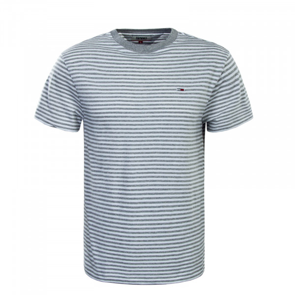 Herren T-Shirt  5515 Grey White Stripe