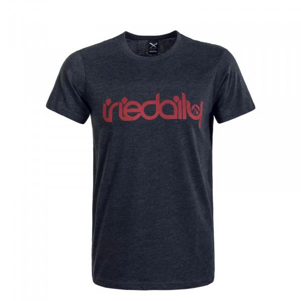 Herren T-Shirt No Matter 4 Anthrazit Red