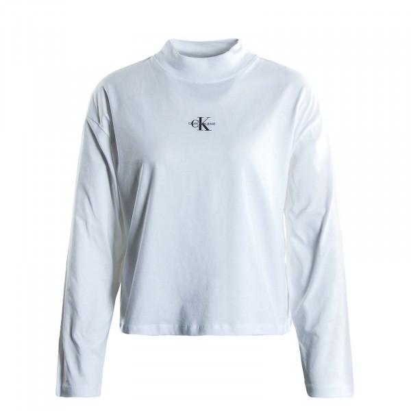 Damen Sweater - Mirco Monogram Loose - White
