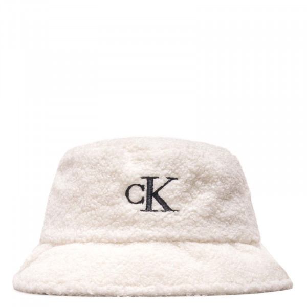Bucket Hat - Monogram Sherpa - White