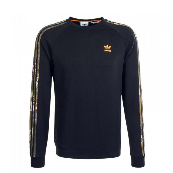 Herren Sweatshirt Camouflage Crewneck GD 5947 Black Noir