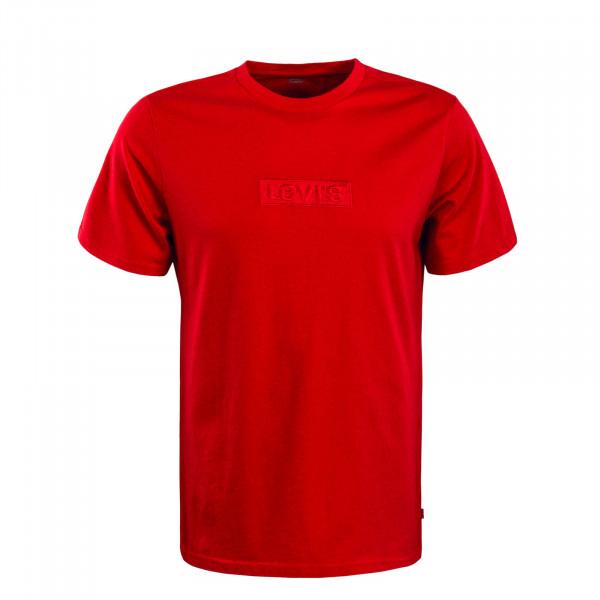 Herren T-Shirt Relaxed Graphic Babytab  Red