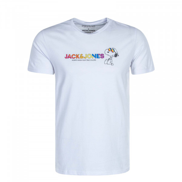 Herren T-Shirt Peanuts Pride White