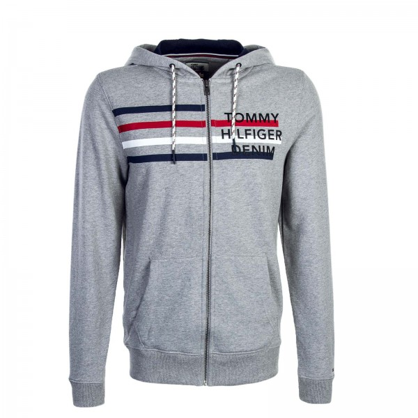Tommy Sweatjkt Basic Logo Grey