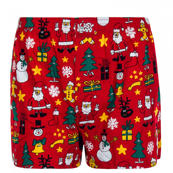Herren Boxershort Christmas Night Red