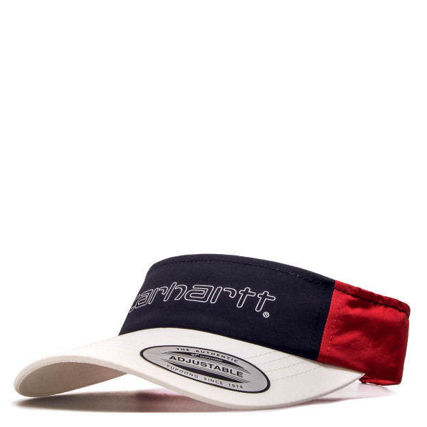 Visor Terrace White Navy Red