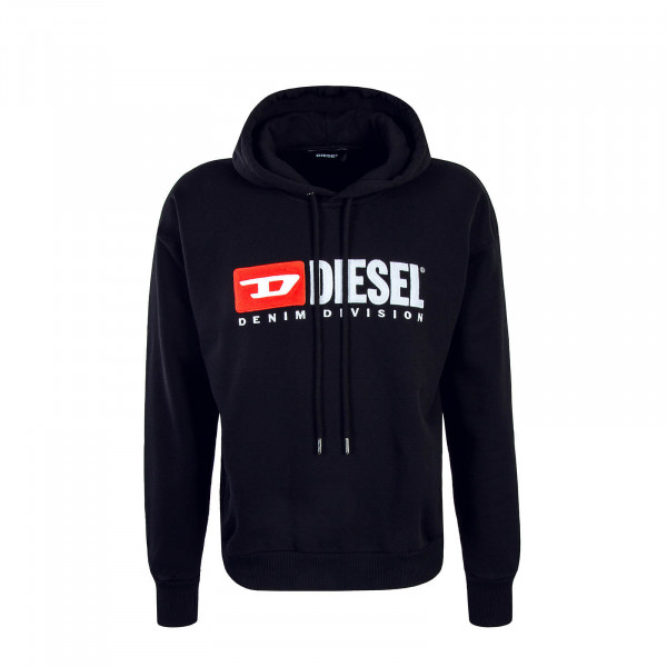 Diesel Hoody Division Felpa Black