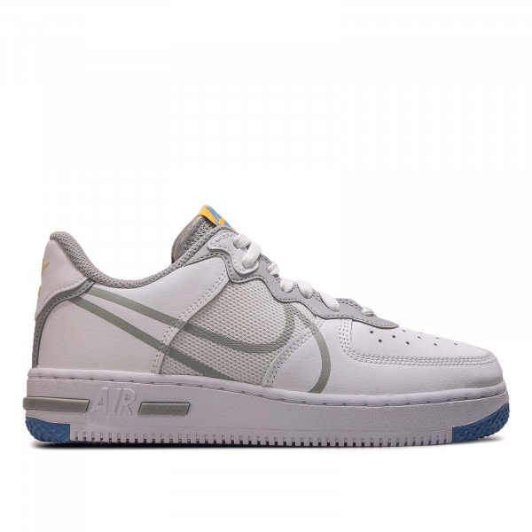 Damen Sneaker Air Force 1 React White Light Smoke Grey