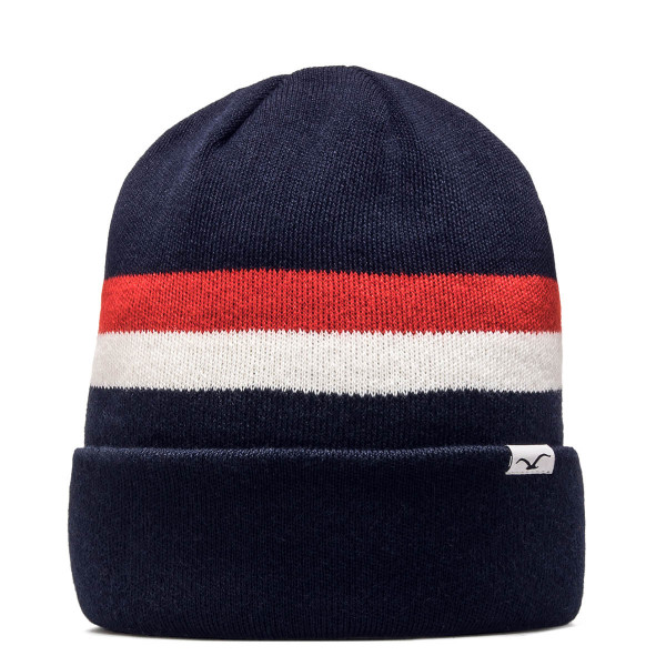 Clepto Beanie 91 Stripe Navy Red White